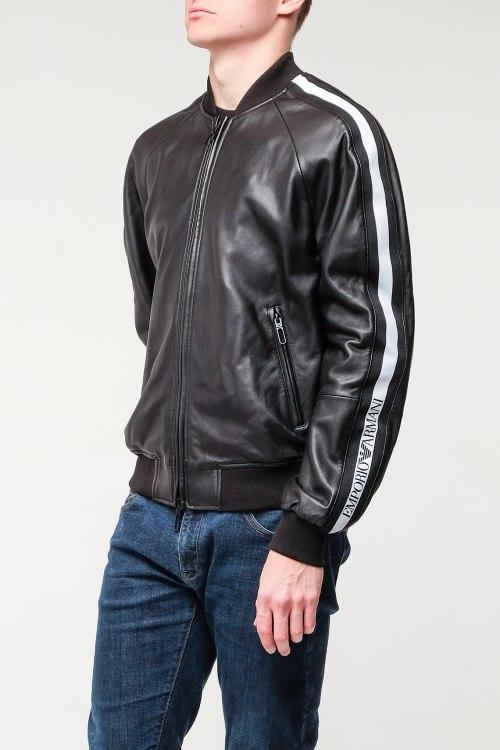Кожаная куртка Emporio Armani