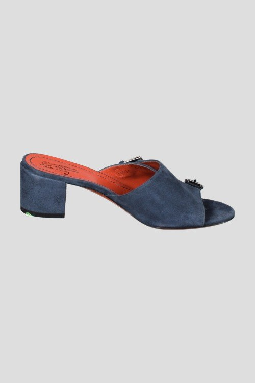 Шлепанцы на каблуке Santoni