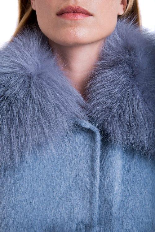 Пальто с мехом Manzoni 24