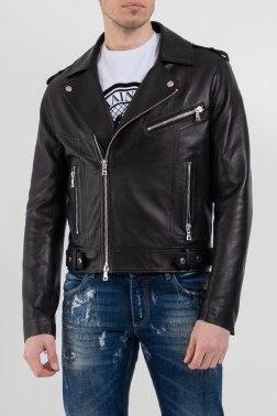 Кожаная куртка Balmain