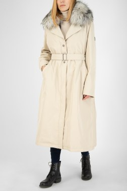 Пальто с мехом Adriano Baroni