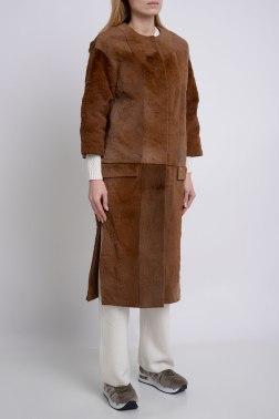 Пальто с мехом Via Cappella