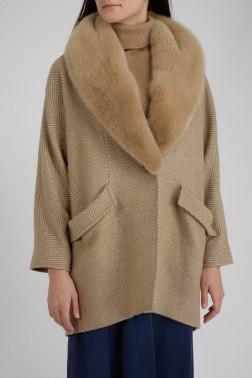 Пальто с мехом Giuliana Teso