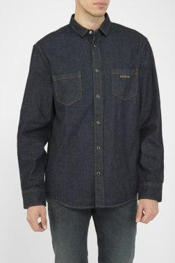 Джинсовая рубашка Dirk Bikkembergs